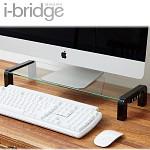 [무료배송]i-bridge 모니터 받침대 + 4포트 OTG허브 MC-500 HUB (강화 유리 / 허브 탈착 가능 / 마이크로5핀)