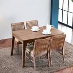 이홈데코 바게트 원목 식탁 세트 4인용 의자형