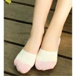 더블보카시 덧신 양말 핑크 페이크삭스 발목양말 선물