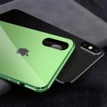 아이폰X XS 슬림핏 컬러 강화유리 하드 핸드폰 케이스
