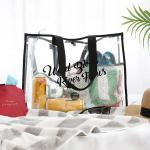 여행 여름바캉스 워터파크 PVC 방수 투명비치백 OCEAN