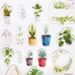 푸른 식물원 투명 입체 스티커 (1개)