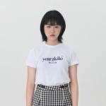 로고 타이트 티셔츠_WHITE