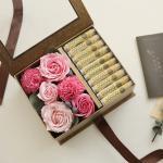 골드 플라워용돈박스 - 로즈앤 카네이션 [2color]