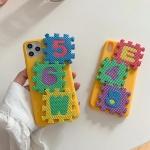 아이폰11 PRO SE2 X 8 입체 블록 퍼즐 실리콘 케이스