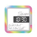 머레이 LED 레인보우 스퀘어 시간표시 무드등 TIME24