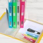 [청운그린화일] 흔치않은 mini 크기의 A5-40매 Color Chips PP 클리어화일 HB153