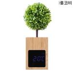 코비CB BL50 대나무 무소음 LED 알람 시계