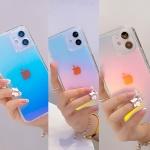아이폰 12 11 pro max xs se2 8 투명 홀로그램 케이스