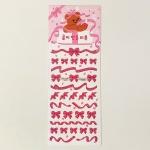 곰이 만든 리본 홀로그램 스티커