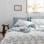 [클라모프] 스프링 블루 가든 침대커버 세트