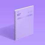 [모트모트] 스프링북 - 바이올렛 (스퀘어드) 1EA