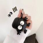 에어팟 1/2/3/프로 귀여운 3D 블랙 먼지 실리콘케이스
