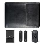 노트북 가죽 파우치(블랙) (27x37cm)