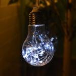LED 20P 와이어 건전지(밧데리) 에디슨전구(1구) - 백