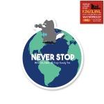 토리 지구 한 바퀴 - 캐리어/노트북 스티커