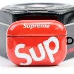 에어팟프로 3세대 슈프림 실리콘 케이스_레드 424/PRO
