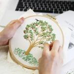 자수의온도 프랑스자수 DIY 패키지 나의 사과나무