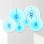 페이퍼 롤리팬 장식세트 (6개입) 블루