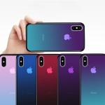 아이폰11 PRO MAX 반투명 그라데이션 강화유리 케이스