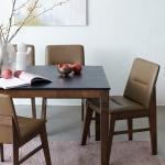 [리비니아]제이미 빈츠모카 4인 화산석 마블 식탁세트