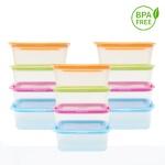 BPA프리 전자렌지용 사각용기540ml 10개입