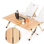 캠핑용 소나무원목 우드 롤 테이블 2사이즈