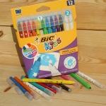 [BiC] 지워지는 싸인펜...빅 키즈 컬러링 Magic FELT Pen 10+2 HA165-2