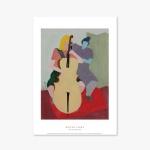 현대작가 포스터 액자 010 Milton Avery Cello Player