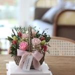 시들지않는 프리저브드 싱그러운 장미꽃바구니 선물