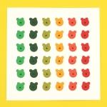 [한톨상점]가을 반곰이 스티커