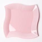 칼라 파티접시 웨이브 23cm -핑크(6입)
