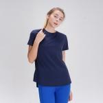 스플래쉬 사이드 슬릿 티셔츠 DFW5024 네이비