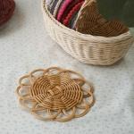 라탄공예 꽃 컵받침 2개 만들기 - 동영상 강의