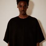 오버핏 시그니처 로고 티셔츠(남여공용) 블랙