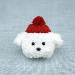 에어팟 1/2 강아지 캐릭터 뜨개질 케이스_레드+흰푸들