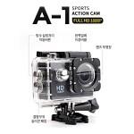 가성비 최고 액션캠/메모리카드 ★ 32G 특별 증정 ★/FullHD 오토바이/자전거 블랙박스 A1 블랙/액션캠//방수팩제공/F2.4밝은렌즈/마운트및거치대 포함