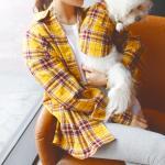 강아지커플룩 견주 올인원 여름옷 셔츠 반팔 애견
