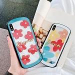 아이폰 플라워 패턴 유광 아크릴 하드 휴대폰 케이스
