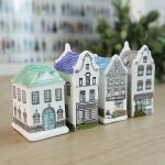 북유럽 세라믹 하우스 장식소품 4개 셋트 추카추카넷