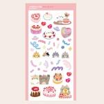 케익한조각 씰 스티커