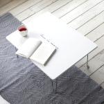 E0 레터링 접이식 테이블 M 화이트