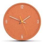 ECO 컬러 앤 포인트 오렌지 무소음벽시계