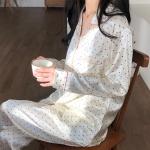 3color 실크 데일리 잠옷 파자마 홈웨어