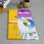 Hnasol Label Paper 100매 HL4309 바코드용 27칸