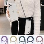 갤럭시 s21 목걸이줄 스트랩 투명 젤리 핸드폰 케이스