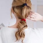 벨벳 기본 머리끈 고무줄