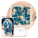 피칸데코 에티켓 손수건 블루플라워 선물박스포함