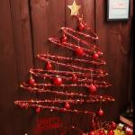 크리스마스 와이어 벽트리 세트 (레드)
