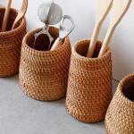 라탄 다용도통(연필통,소품통,수저통등) - 2type